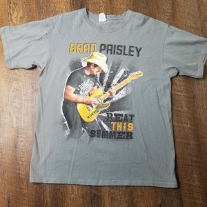 Brad Paisley 2013 tour shirt gray sz L